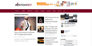 Website screen capture: www.auditionfest.asia