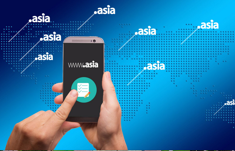Photo: .Asia domain on world map - .Asia makes registration process simple for registrants worldwide – No more local ID or address input requirement