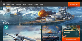 website screen capture: www.worldofwarships.asia