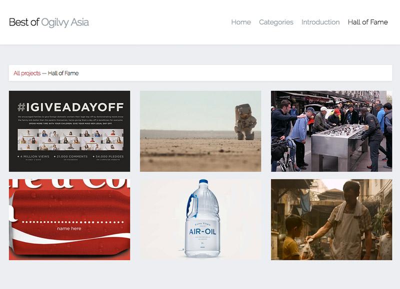 Website Screenshot: Best of Ogilvy Asia