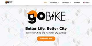 Website screen capture: gobike.asia