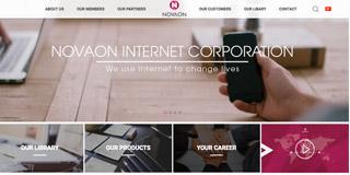 website screen capture: novaon.asia