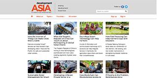 Website screen capture: development.asia