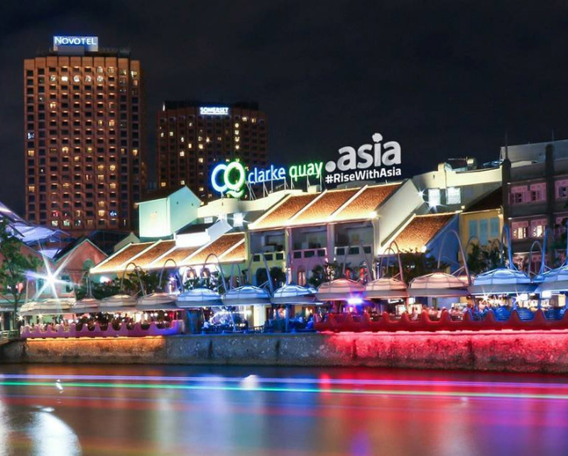 Photo: Clarke Quay, Singapore with .asia hashtag #RiseWithAsia