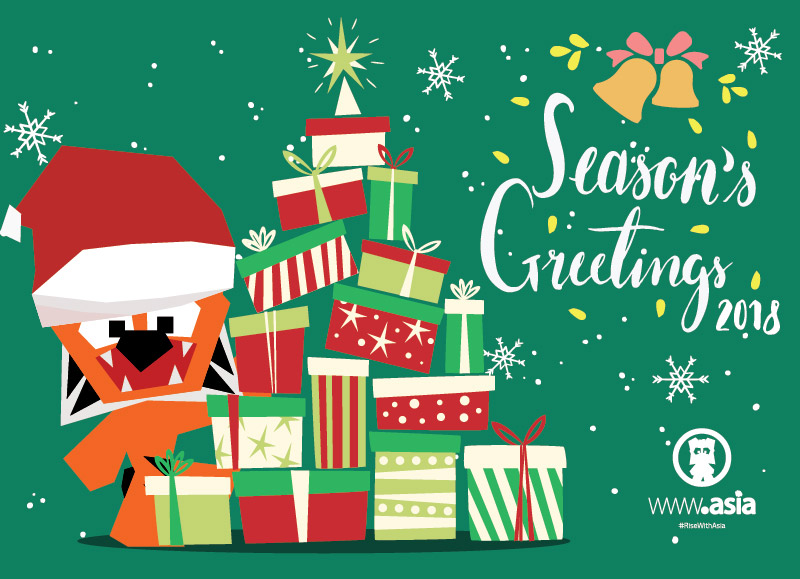Image: Ajitora and DotAsia wishing you Season's Greetings