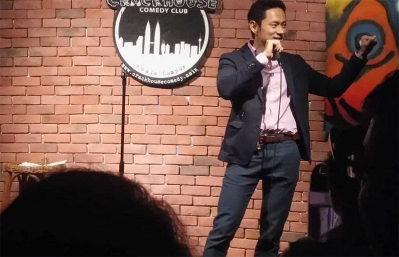 Photo: Comedian performing at Crackhouse Comedy