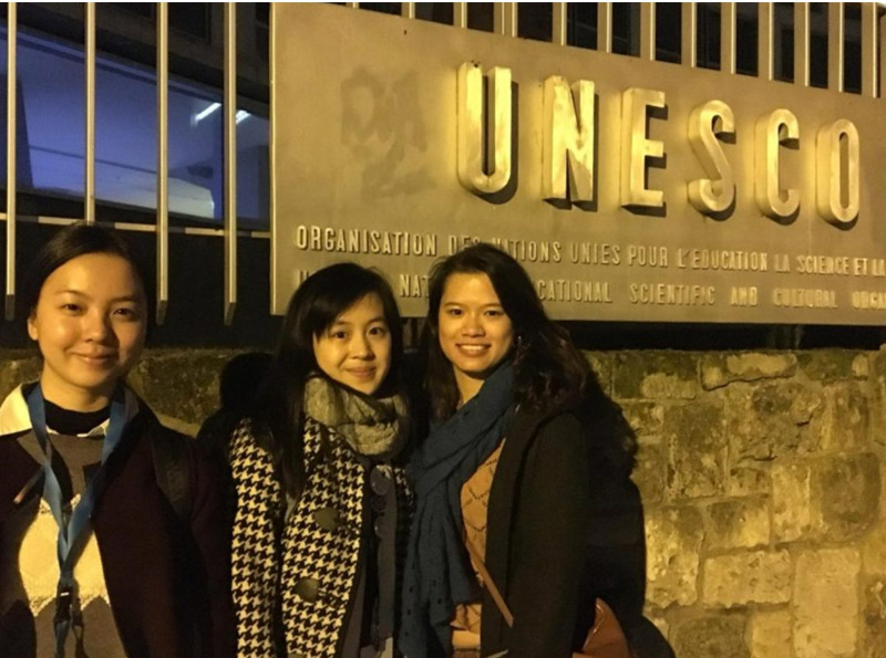 Photo: NetMission Ambassador at UNESCO HQ