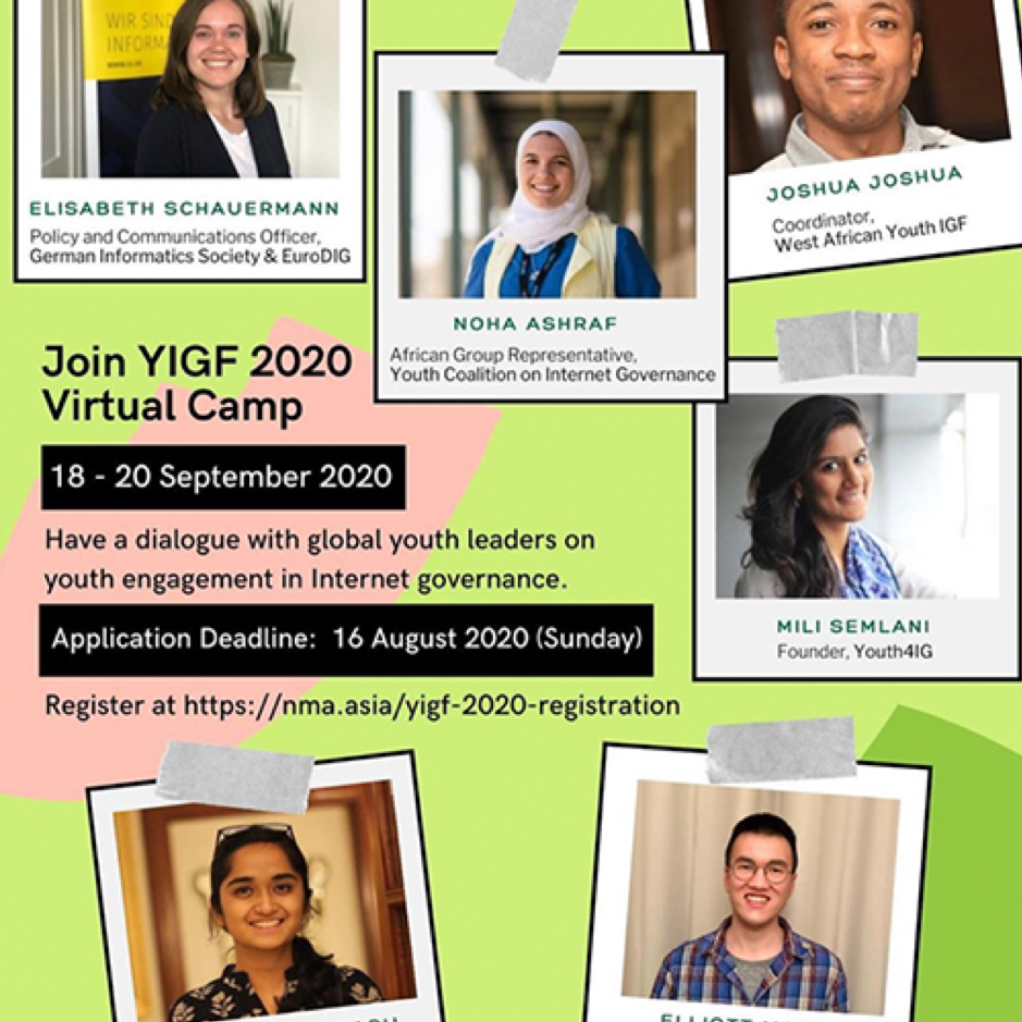 Join YIGF 2020 Virtual Camp