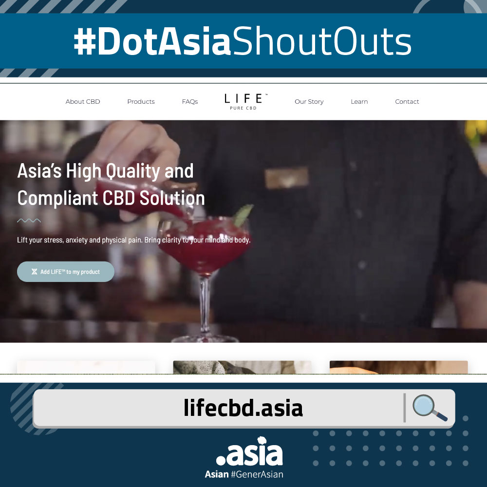 DotAsiaShoutOuts - lifecbd.Asia Website Screenshot