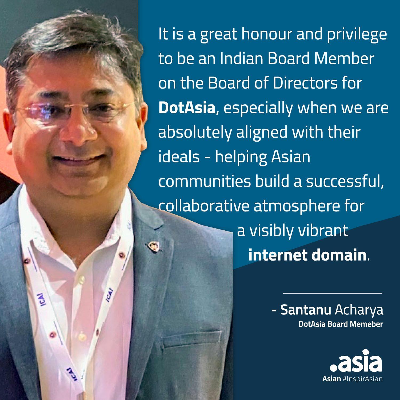 Photo - Santanu Acharya - DotAsia Board appointment