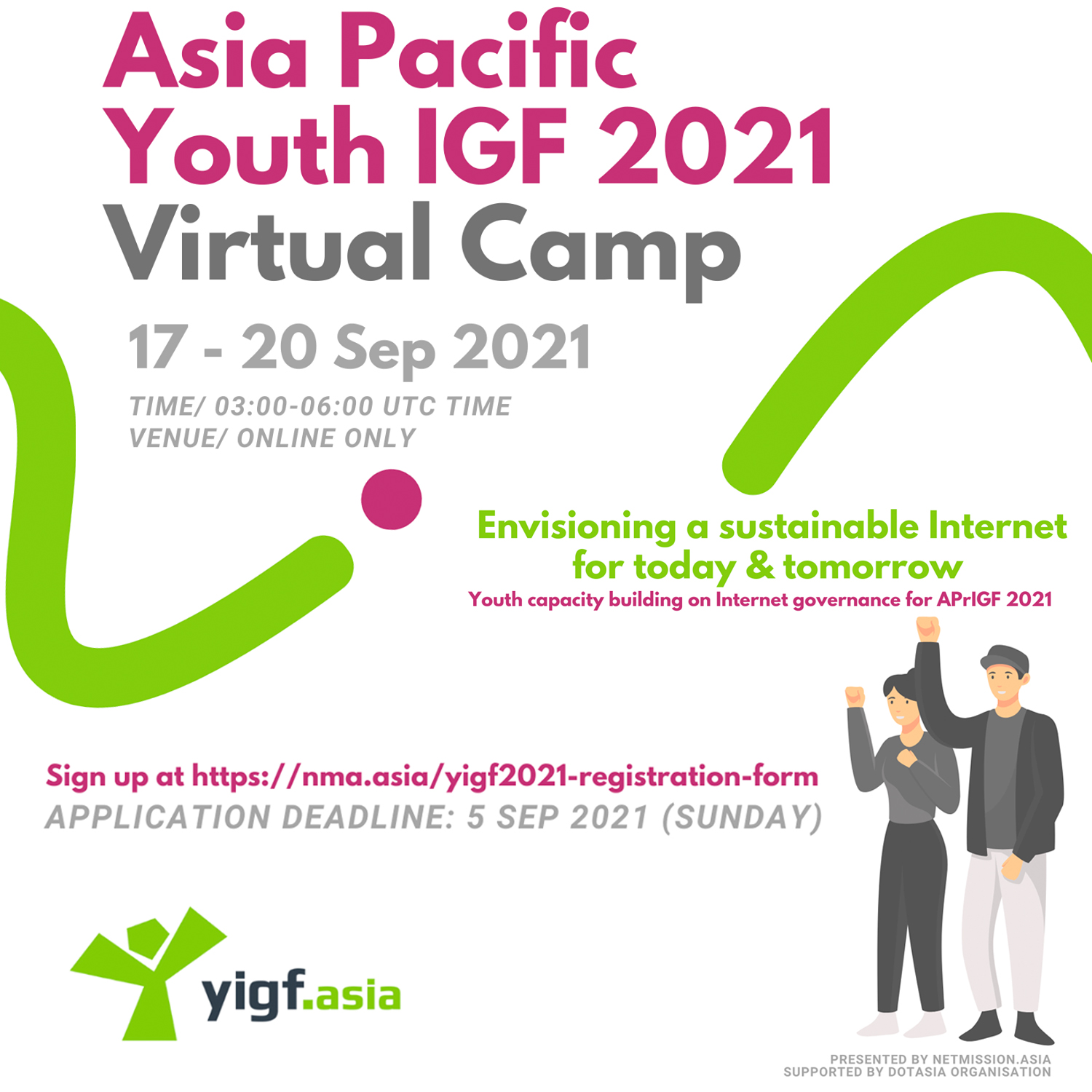 Asia Pacific Youth IGF 2021 Virtual Camp banner